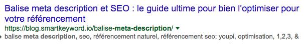 balise meta description référencement naturel seo