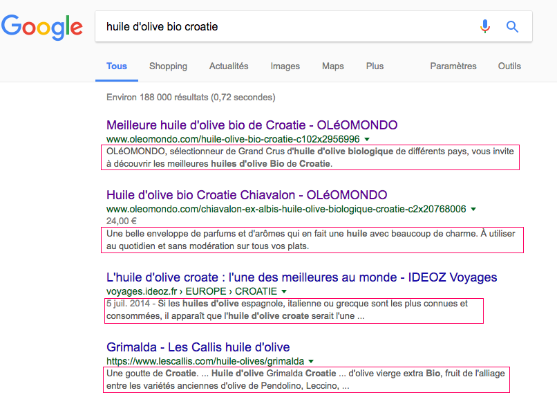 optimisation balise meta description