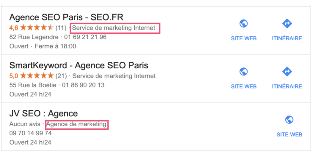google-my-business-concurrents
